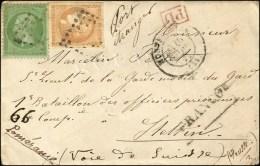 Losange / N° 43 (plis) + 20 Avec Càd MONTPELLIER (33) 10 MARS 71 Sur Lettre Pour Stettin (Prusse). Tarif...
