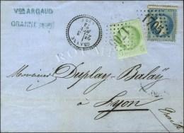 GC 1705 / N° 29 + 53 Càd T 23 GRANNE (25). 1873. - TB / SUP. - R.