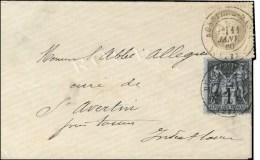Càd T 17 BOSSIERE-BADEL (23) / N° 27 + N° 83 Sur Enveloppe Carte De Visite. 1880. - SUP. - R.