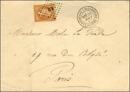 Losange EU / N° 21 Càd T 17 EXPOSITION UNIVERSELLE POSTES Sur Lettre En Port Local. 1867. - TB. - R.