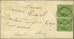 Càd T 24 REMOLLON (4) / N° 20 Paire Sur Lettre Locale Pour Gap. 1870. - SUP. - R.