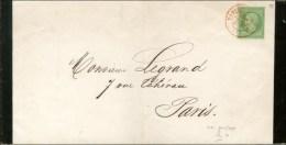 Càd Rouge SC PARIS SC (60) / N° 20 Sur Imprimé Complet De Paris Pour Paris. 1870. - SUP. - RR.