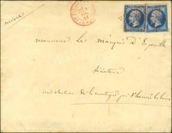 Etoile Rouge / N° 14 (2) Càd Rouge Bau DU PALAIS DE COMPIEGNE Sur Lettre 2 Ports Avec Texte Daté...