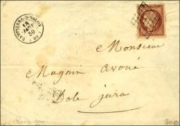 Grille / N° 7 F Nuance Rouge-brun Superbes Marges Càd T 15 DAMPIERRE-S-SALON (69) 18 JANV. 50. - SUP. -...
