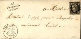Grille / N° 3 Càd T 14 LIPOSTHEY (39). Cursive 39 / Parentis / En -Born. 1849. - TB / SUP. - R.
