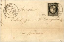 Càd T 14 LIPOSTHEY (39) 3 JANV. 1849 / N° 3. - SUP. - RR.