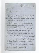 ETIENNE PROSPER DUBOIS GUCHAN (1802 BAGNERES DE BIGORRE.1881 LYON) ECRIVAIN LETTRE A SIGNATURE 1870 - Autographs