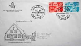 Denmark 1969 Cz.Slania  NORDEN FDC MiNr.475-76 Viking Ships/ Wikingerschiffe ( Lot 5399 )  COVER  AARHUS Den Gamle By