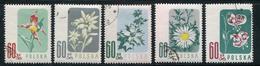 POLOGNE- Y&T N°904 à 908- Oblitérés (fleurs)