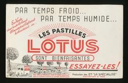 Buvard - Pastilles LOTUS - Buvards, Protège-cahiers Illustrés