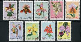 POLOGNE- Y&T N°1463 à 1471- Oblitérés (orchidées)