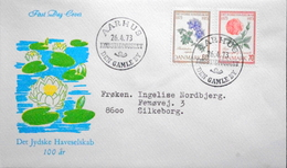 Danmark 1973 Cz.Slania Miinr.543-44  FDC  Flowers / Blumen / Fleurs (parti  6280    AARHUS Den Gamle By  )