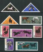 POLOGNE- Y&T N°1312 à 1320- Oblitérés (chevaux)