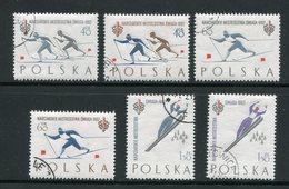 POLOGNE- Y&T N°1157 à 1162- Oblitérés (ski)