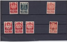 1944-45  Mi. 383/84, 383b,386/88,409b,, Scott 3444/45,344a,345A/C,346, Yvert 430/31,430b,434/36,431 Mint Never Hinged