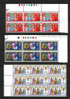 GB QEII 1969 Christmas In MNH Corner Blocks Of 6/9 - Blocks & Miniature Sheets