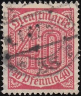 GERMANY - Scott #O7 Numeral / Used Stamp