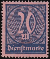 GERMANY - Scott #O19 Numeral / Mint NG Stamp