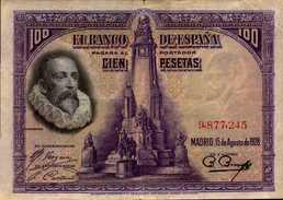 ESPAGNE 100 PESETAS Du 15-8-1928 Pick 76  XF/SUP - [ 1] …-1931 : First Banknotes (Banco De España)