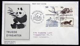 Denmark FDC Cover 1975 Minr.602-605 WWF Panda Issue Endangered Animals ( Lot  6280 )