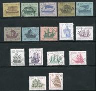 POLOGNE- Y&T N°1241 à 1256- Oblitérés (bateaux)