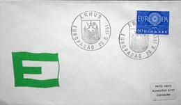 Denmark 1961 EUROPA MiNr.386  ( Lot 6280 ) Special Cancel Cover Europaday 29-6-1961 Århus