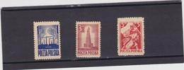1945  Mi. 404/06, Scott 365/67,, Yvert 440,441,448 Mint Hinged
