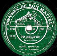 78 T. - 25 Cm - état  B -  LIONEL HAMPTON - WHEN LIGHTS ARE LOW - CENTRAL AVENUE - 78 G - Dischi Per Fonografi