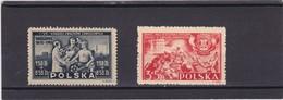 1945  Mi. 413,434, Scott B42, B43, Yvert 462,464 Mint Never Hinged        036 - Nuovi