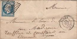 Yvert 14 Marges Sur Lettre Cachet NIMES Gard PC 2272 - 18/10/1855 Pour Le Lieuran Passe Mende Lozère