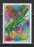 Guinea Mi 663 ** MNH Tettigonia Viridissima