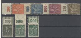 Lot Deutsches Reich Michel No. 238 - 244 ** Postfrisch OR Oberrand - Deutschland