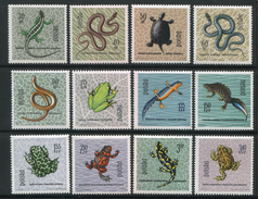 POLOGNE- Y&T N°1259 à 1270- Neufs Avec Charnière * (reptiles Et Amphibiens)