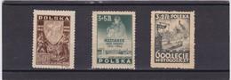 1946  Mi. 437MNH,436MH,435 Almost MNH, Scott B44,B45,B46, Yvert 465,467,466 Mint Hinged/mint Never Hinged