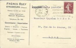 CPA Lettre De STRASBOURG - Frères Ruef. - Strasbourg