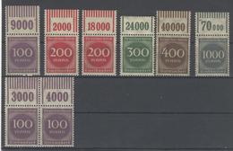 Deutsches Reich Michel No. 268 - 273 ** Postfrisch OR Oberrand / Ohne No. 272 - Deutschland