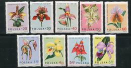 POLOGNE- Y&T N°1463 à 1471- Neufs Avec Charnière * (orchidées)
