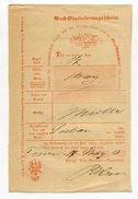 Altdeutschland / Postschein Hs. Ortsangabe (4558)