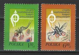 Polen Mi 2567-68 ** MNH Diptera