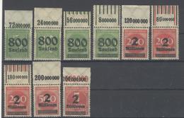 Lot Deutsches Reich Zwischen Michel No. 301 - 312 A ** Postfrisch OR Oberrand - Deutschland