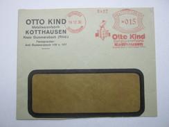 Firmen Freistempel , Meterstempel Auf Beleg Aus   1930 , Kotthausen , Etwas Verkürzt