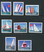 POLOGNE- Y&T N°1440 à 1447- Oblitérés (bateaux)