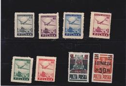 1946 Air Mail Mi. 428/33,476,477, Scott C14/18,C19/20, Yvert PA 10/13,PA16/17 Mint Never Hinged