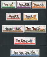 POLOGNE- Y&T N°1495 à 1503- Neufs Avec Charnières * (chevaux)