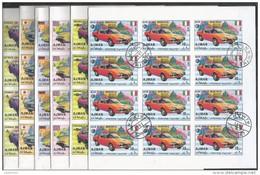 20x AJMAN - Tranport - Cars - CTO - Imperf. - Full Sheets