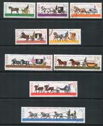 POLOGNE- Y&T N°1495 à 1503- Oblitérés (chevaux)