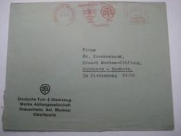 Firmen Freistempel , Meterstempel Auf Beleg Aus   1938 , Krauschwitz