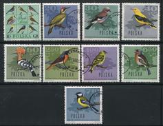 POLOGNE- Y&T N°1568 à 1576- Oblitérés (oiseaux)