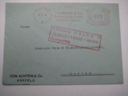 Firmen Freistempel , Meterstempel Auf Beleg Aus   1933 , Krefeld , Dreiseitig Geöffnet
