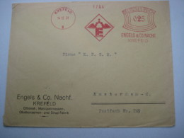 Firmen Freistempel , Meterstempel Auf Beleg Aus   1931 , Krefeld